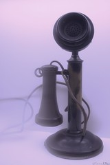 Candlestick Phone (Harpo42) Tags: classic vintage technology phone bell antique telephone retro speaker candlestick oldfashioned communicate