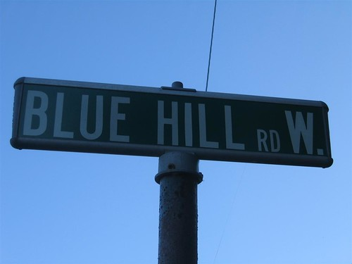 Blue Hill Road West street sign