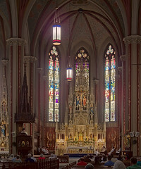 Saint Francis de Sales Oratory, in Saint Louis, Missouri, USA - interior in the afternoon