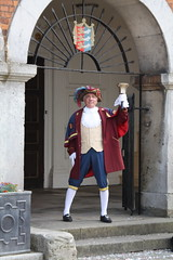 Town Crier on the steps of Rye Town Hall