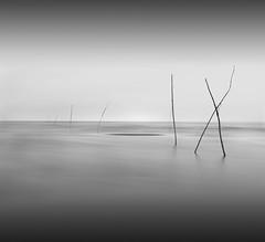 | | /  |  / _ | X (Chee Seong) Tags: longexposure bw beach clouds canon sand bravo wave malaysia minimalism kuantan themoulinrouge canon1022mm nd400 400d infinestyle teruntum