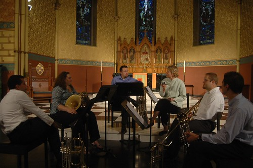 Cinco Brass Quintet with Deborah Sobol by you.