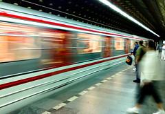 Moving Target (tomms) Tags: travel train subway europe prague tourist transit czechrepublic streaks blursurfingcom