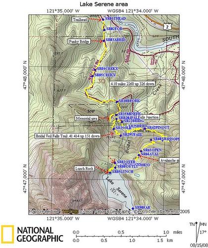 Lake Serene area map