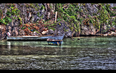 Lagoon (vgm8383) Tags: cruise beach water canon boats boat fishing rocks cove lagoon jamaica inlet caribbean isle hdr rockwall anchored ochosrios rebelxti goldstaraward