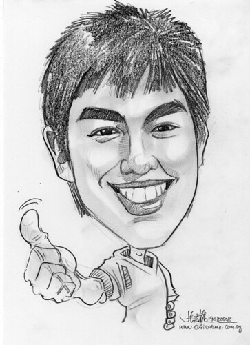 Caricature in pencil 05