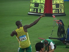 Usain Bolt before 200 m