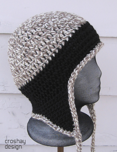 Free Crochet Basic Earflap Hat Pattern : CROCHETED HAT WITH EAR FLAP PATTERNS FREE PATTERNS