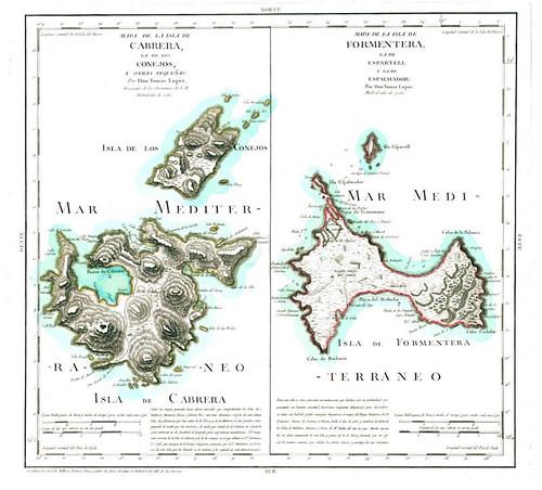 Mapas de Cabrera y Conejera