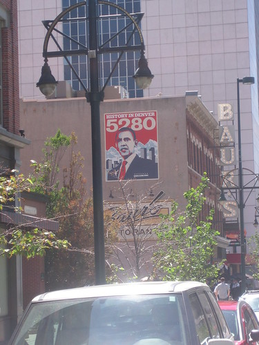 Obama's Face Covers Denver
