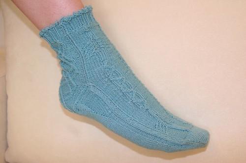 Dichroic Reflections Free Knitting Pattern Power 10 Rowing Socks
