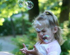 Bubble Girl (dawnzy58) Tags: silly girl smile happy hands child caroline bubbles granddaughter 2yearsold coffeeshopactions creamycoffeelatte