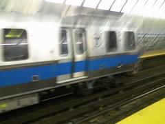 MBTA Aquarium (ElmerCat) Tags: new blue station boston train subway aquarium massachusetts siemens line lynn mbta