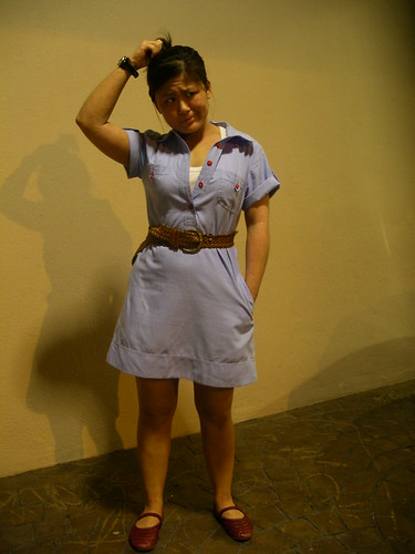 Shirt dress + pocket = superlovelove
