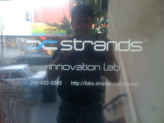 New sign for Strands Labs Seattle
