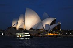 Opera House - night time (emil11) Tags: architecture night sydney australia explore operahouse blackblueandwhite