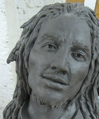 songs of freedom (mereshadow) Tags: portrait man illinois statues clay reggae dreads musicman bobmarley edwardsville dusttodust rastaman musiclegend