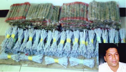 Explosives Seized at Puttur by DCIB
