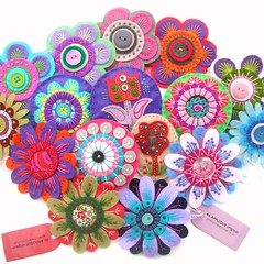 FELT ASSORTMENT (APPLIQUE-designedbyjane) Tags: embroidery felt pins brooches