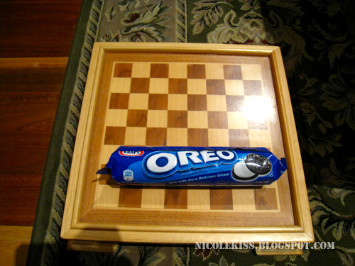 oreo and checker board