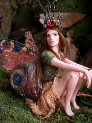 #78 Hazel ~ Autumn Fairy (Nenfar Blanco) Tags: autumn sculpture art doll ooak polymerclay fimo fairy fantasy otoo faerie mabon equinox hada fae arcillapolimrica nenufarblanco