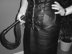 black & white (blackpenguin!) Tags: leather goddess sm bdsm whip mistress leder femdom slave domina peitsche herrin sklave