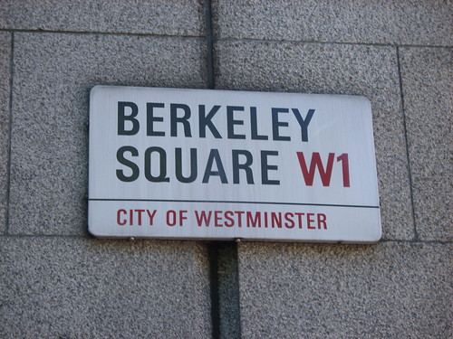 Berkeley Square sign in Mayfair