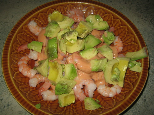 Garnalen met avocado