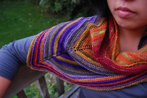noro shawl, on