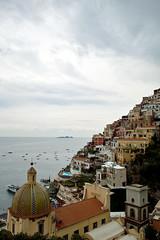 Ladder of Positano (Maureen Taffy) Tags: sea sky italy orange building line architect positano cluds