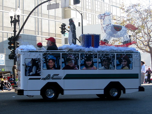 AC Transit 1/4 Bus at Children's Holiday Parade in Oakland
