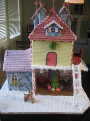 Back of Gingerbread House (Stephanie (Cake Fixation)) Tags: rudolph gingerbreadhouse santascastle