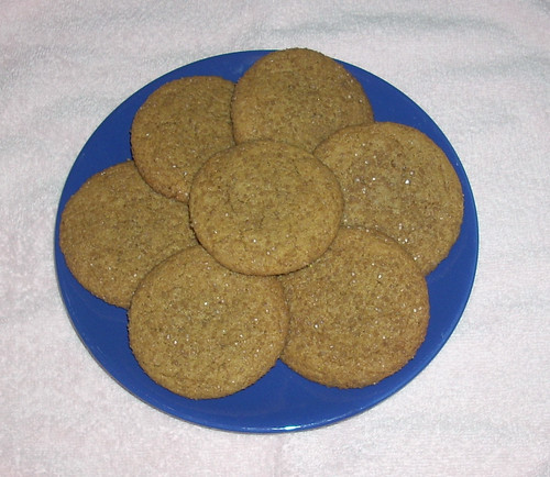 Ginger Molasses Crinkle Cookies B