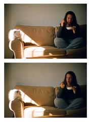 Yaeli and Midori (Dror Miler) Tags: light portrait people food woman s