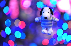 Walkin' In A Winter Wonderland (*Sakura*) Tags: pink blue winter white macro japan night lights december christmastree explore snoopy  sakura   holidayseason