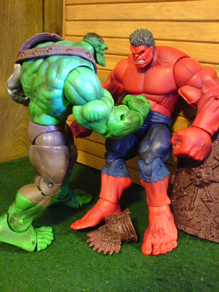 365 Toy Project 017 365 - Planet Hulk vs Red Hulk
