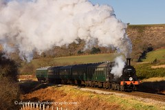Swanage Railway 9 - M7 30053, Corfe Common, Dorset (David Crosbie) Tags: steam dorset m7 corfecastle steamrailways swanagerailway uksteam 30053 corfecommon