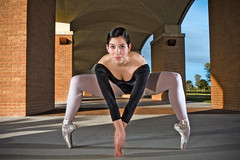 Gianna (r2lozano) Tags: art canon pose spider dance ballerina texas performance tights talent mcallen greatness leotard strobe riograndevalley pointshoes danceshoes strobist