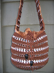Catherine's Drawstring Bag (Pop Top Lady) Tags: aluminum crochet reciclagem pulltabs croche lacres trashion poptops recycledupcycled