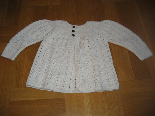 Front of the cardigan