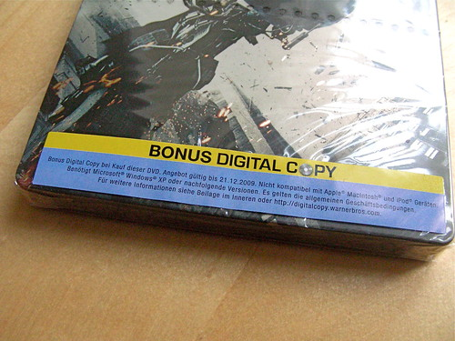 The Dark Knight - Mindestanforderungen der 'Bonus Digital Copy'