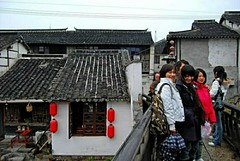 Young Girls (faungg's photos) Tags: china old travel water smile town village shanghai oriental   attraction zhujiajiao younggirls    watervillage