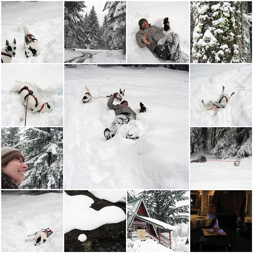 A snowy hike