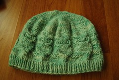 Owl hat in Wintergreen Malabrigo