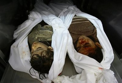 2 dead young Palestinian girls in Gaza