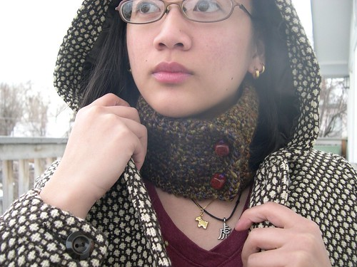 Sanguiknity First Free Knitting Pattern Staggered Neck Warmer