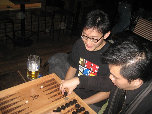 A game of backgammon with Wilson