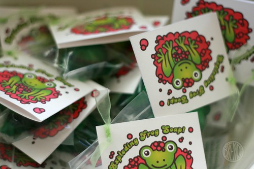 exploding frog soap packaging