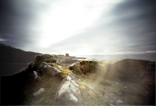 Pinhole image Castle from the pier rocks 05Feb09