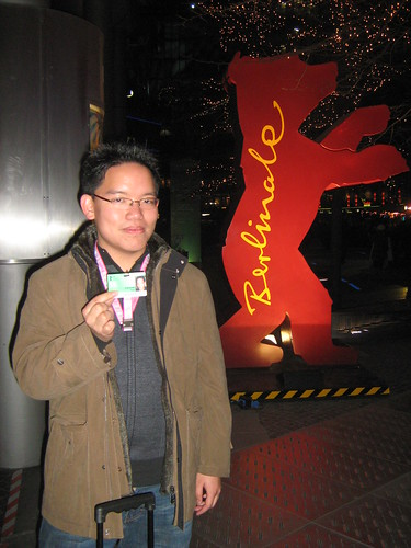 Me with the Berlinale bear